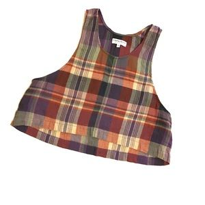 Community Plaid Crop Tank Size XS